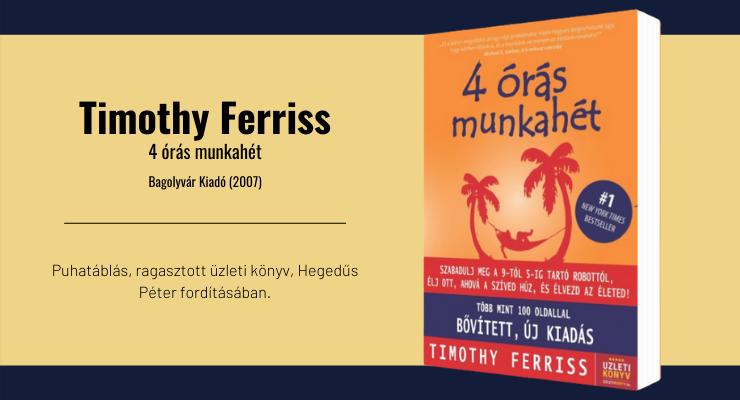 Timothy Ferriss - 4 órás munkahét